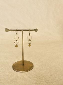 Ohrhänger aus Messing - handgemacht von Majuki