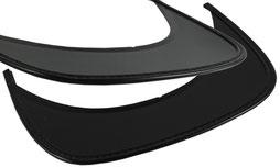 peak for caps, black, approx. 13 x 4 cm
