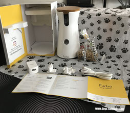 Le dog camera Furbo avec tous ses accessoires