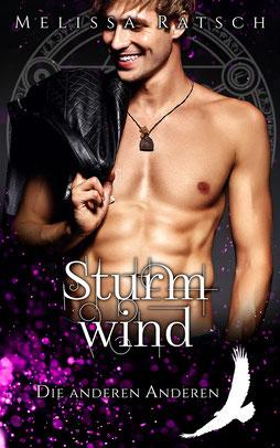 """Buchcoverbild """"Sturmwind"""", dem dritten Teil der Romantik-Fantasy-Reihe """"Die anderen Anderen"""""""