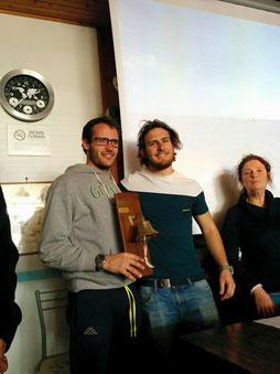 Marco Maero e Carlo Zorzi con Enrica Bertini - Delegata Fireball I°zona
