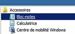 "Utiliser le ""bloc-notes"""