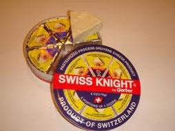 Um Verwechslungen zu vermeiden, heisst Gerber-Käse in den USA Swiss Knight.
