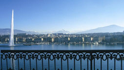 Genfersee und Alpen