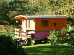 dormir en roulotte en Limousin, à la ferme des Ânes de Vassivière