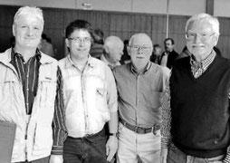 Neue ASV-Führung: Viktor Paschilke (v.l.), Michael Naß, Friedhelm Mertens und Karl-Heinz Gose
