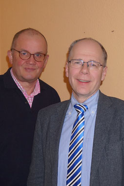 Kreisvorsitzender Paschedag (li.), Bürgermeister Dr. Oberlack