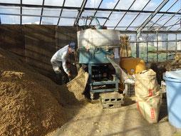 有機醗酵肥料作り