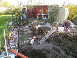 Entw sserung drainage unser kleingarten ein kleines paradies entsteht - Drainage garten lehmboden ...