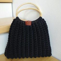 Kordeltasche schwarz