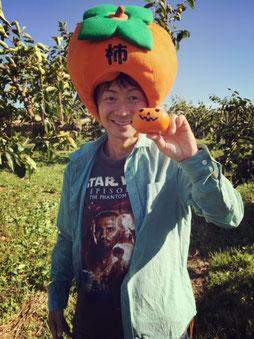 柿でハロウィンを楽しむ