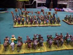 Meine Kavallerie, noch mit sicherem Abstand zu den gegnerischen Rittern