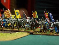 französische Ritter im Feld