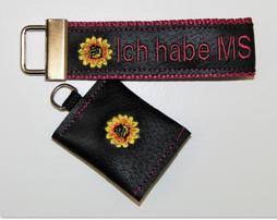 Schlüsselanhänger MS krank,Multiple Sklerose, Notfallset