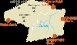 Riserva Samburu - Mappa