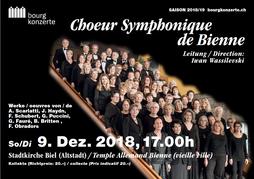 Choeur symphonique de Bienne, 2018