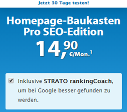Strato Homepage mit SEO