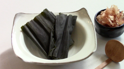 Konbu kelp and bonito flakes
