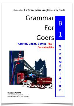 Le livre GRAMMAR FOR GOERS:B1 PRE-INTERMEDIAIRE , 2nde convient autant aux collégiens (3èmes), aux lycéens (2ndes) qu'aux adultes. Il convient également aux professeurs et aux parents puisque la correction des exercices est imprimée dans un livret à part.