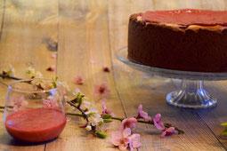 Rezept für Cheesecake mit Himbeeren