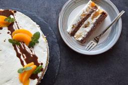 Rezept für Torte mit Pfirsichen, Obst