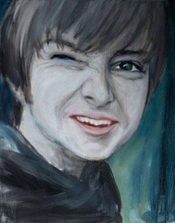 Gabriel, Öl auf Baumwollgewebe, 50 x 60 cm, 2009