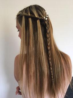 Lange Haare Brautfrisur