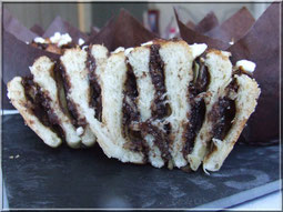 brioche roulee chocolat amande