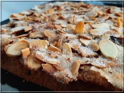 recette gâteau nappage amande craquante