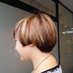 Freche Kurz Haarschnitt, Bob, Locken