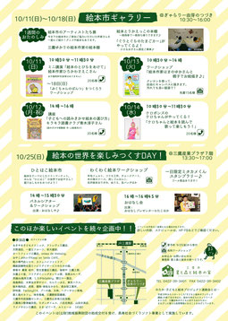 第3回三鷹駅前まるごと絵本市チラシ(2015)裏