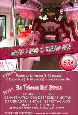 Pack limusina y  disco bus