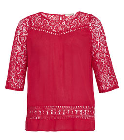 rote Bluse in Größe 52