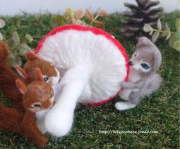 羊毛フェルト 小さなマスコット 動物