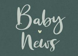 Webstamp Sticker Geburtskarte Geburtsanzeige