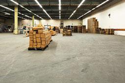 Gussasphaltbelag Lagerhalle WOG Logistics