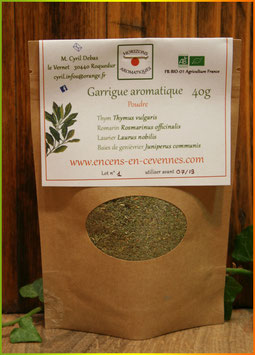 Aromâtes Garrigue aromatique bio