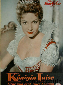 1957年映画「王妃ルイーゼ 愛と悲しみの王妃」のパンフレット ルート・ロイヴェリック主演