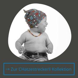 Wendemützen aus Jersey Baumwolle von Hand gefertigt, das sind die Mützen von Chappunzel mit dem Namen Chatzestreckerli.