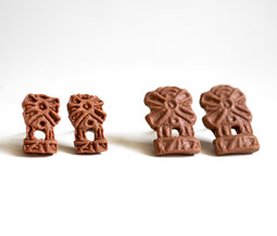 miniature food spekulatius ohrstecker fimo handmade fabulous funky weihnachten xmas keks cookie essen