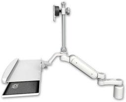 デスクマウント ガススプリング内蔵 昇降式 ディスプレイキーボード用ワークステーションアーム:ASUL180EV7-D3-KUB-AS1