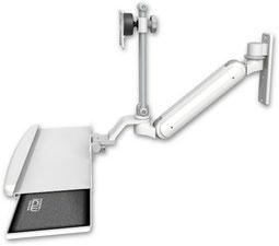 ウォールマウント 壁取付用 ガススプリング内蔵 昇降式 ディスプレイキーボード用ワークステーションアーム :ASUL182IEV7-W3-KUB
