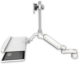 デスクマウント ガススプリング内蔵 昇降式 ディスプレイキーボード用ワークステーションアーム : ASUL180EV7-D1-KUB-AS1