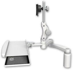 業務用モニターアーム デスクマウント ディスプレイキーボード用アーム:ASUL550-D5-KDB-A2