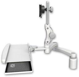 業務用モニターアーム デスクマウント ディスプレイキーボード用アーム VESA:ASUL550-D3-KDB-A2