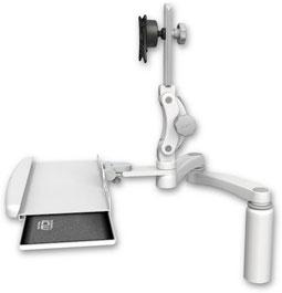 業務用モニターアーム デスクマウント ディスプレイキーボード用アーム:ASUL550-D7-KDB-A2