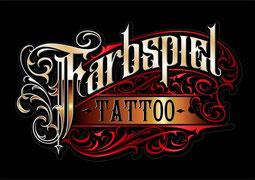 Farbspiel Tattoo Logo des Albums:farbige Tätowierungen