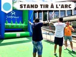 Location stand tir à l'arc gonflable, safe archery Annecy