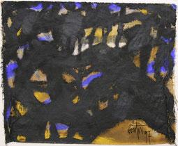 """Eduard Bousrd Bangerl, """"etain III"""", Mischtechnik / Molino  62 x 76 cm, 1997"""
