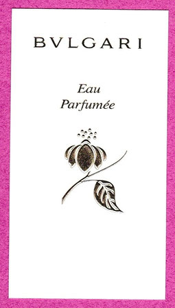 2015 - CARTES AVEC FRAGRANCES AU VERSO